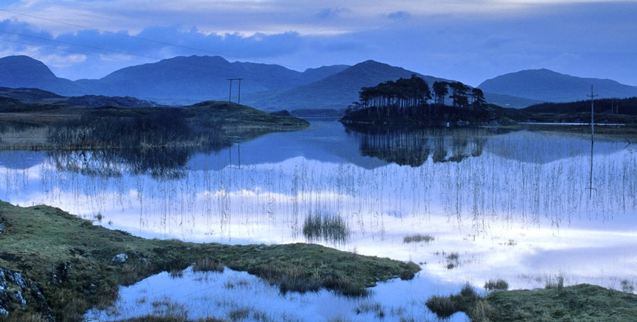 Connemara in twilight